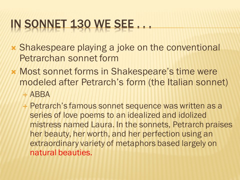shakespeare love sonnet 130