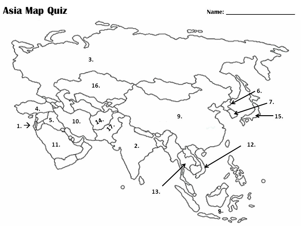 Asia Map Quiz Name: - ppt download