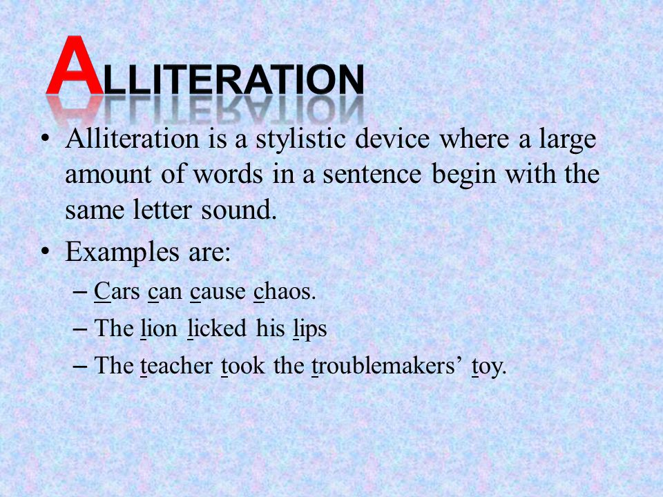 Famous Examples Of Alliteration Image Collections Example Cover