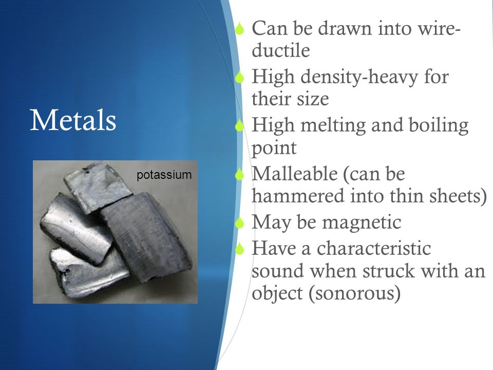 Metal, Nonmetals and Metalloids - ppt video online download