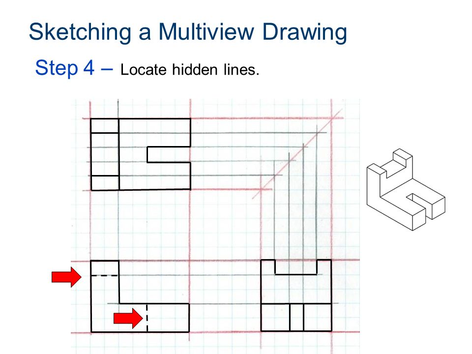 23 Sketching A Multiview Drawing
