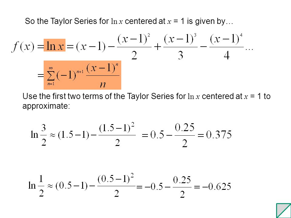 93 Taylors Theorem Error Analysis For Series Ppt Video Online