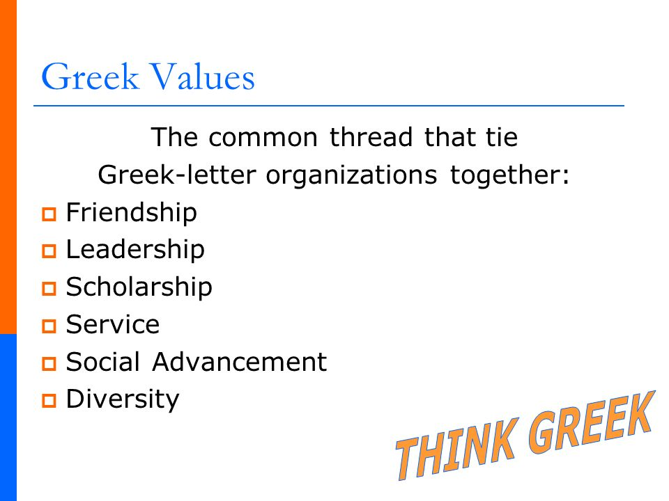 greek letter organizations facts think national statistics ppt 22038 | Greek Values THINK GREEK The common thread that tie