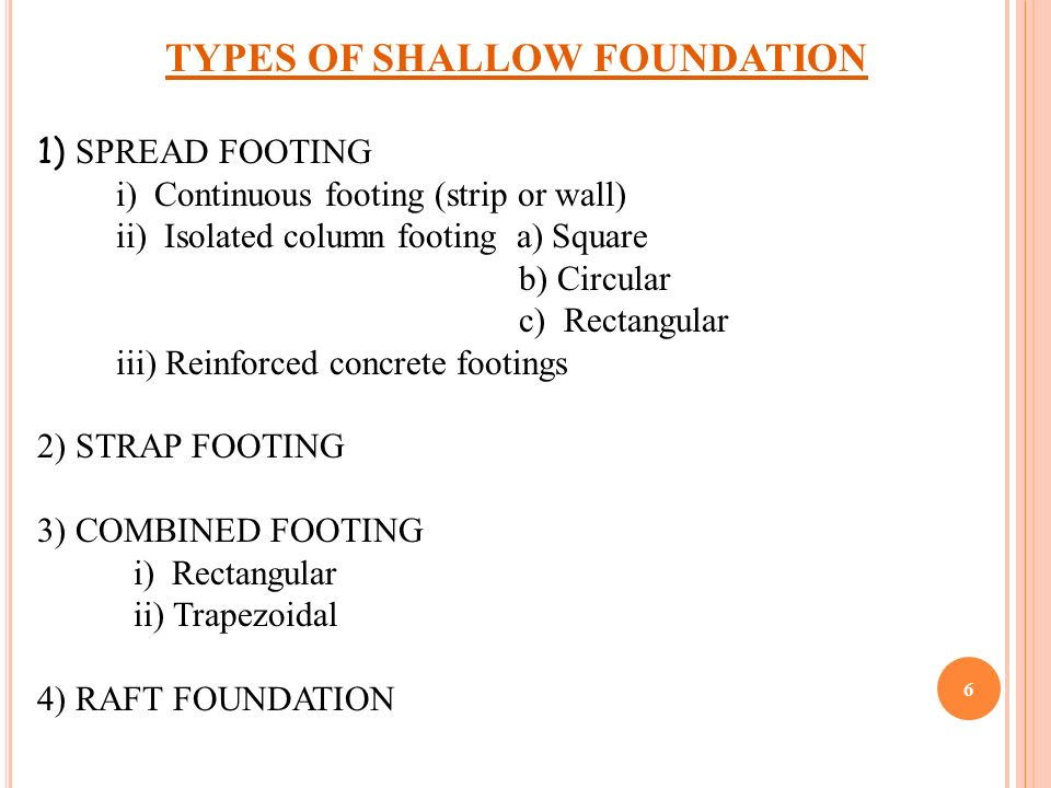 FOUNDATION Engineering Design of shallow foundation - ppt