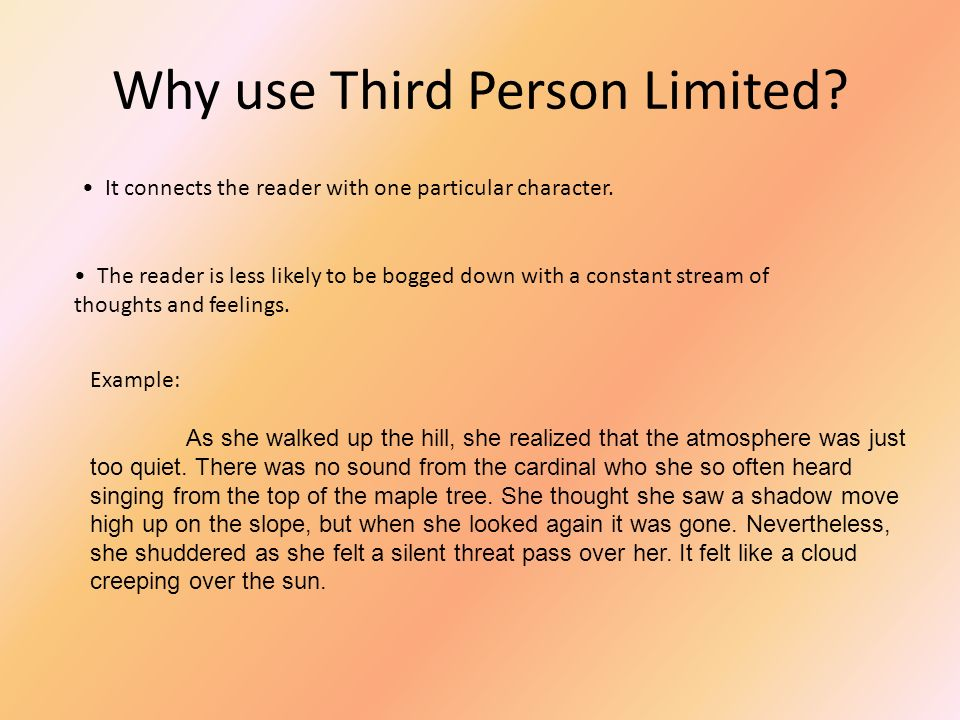 Narrative Point Of View Ppt Download