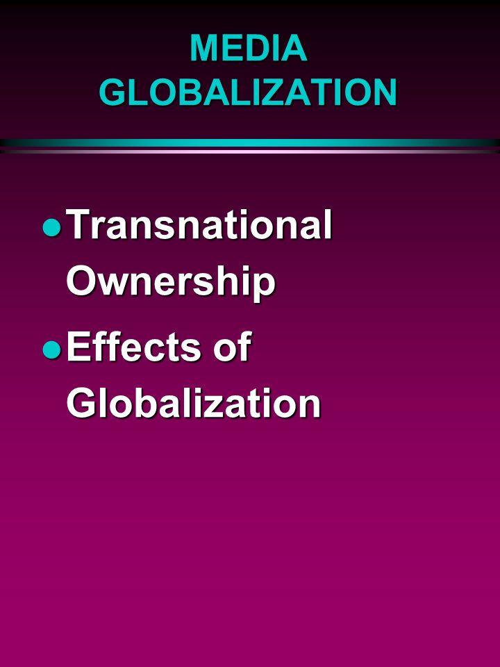 effects of media globalization