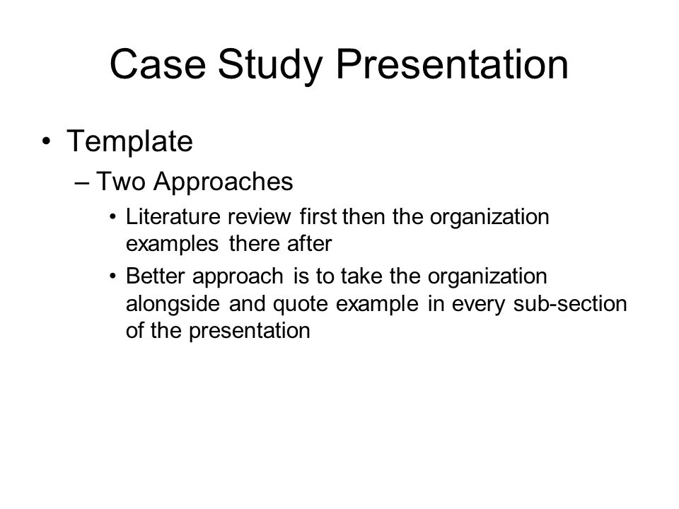 Case Study Presentation - ppt video online download