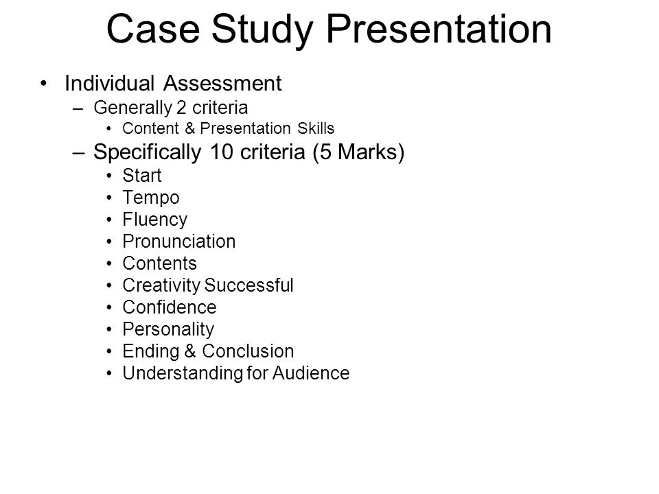 how to start a case study