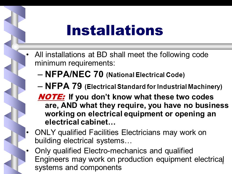 Electrical Safety and Electrical Safe Work Practices EHS Course #525 ...