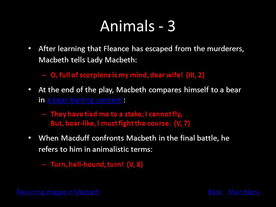 Comparison Contrast Essay Example Paper Animals   After Learning That Fleance Has Escaped From The Murderers  Macbeth Tells Lady Sample Essays High School also Othello Essay Thesis Recurring Images In Macbeth  Ppt Video Online Download Top English Essays
