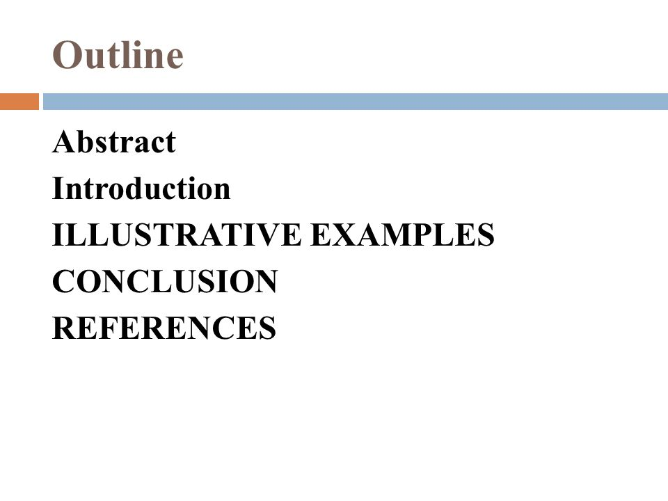 abstract introduction examples