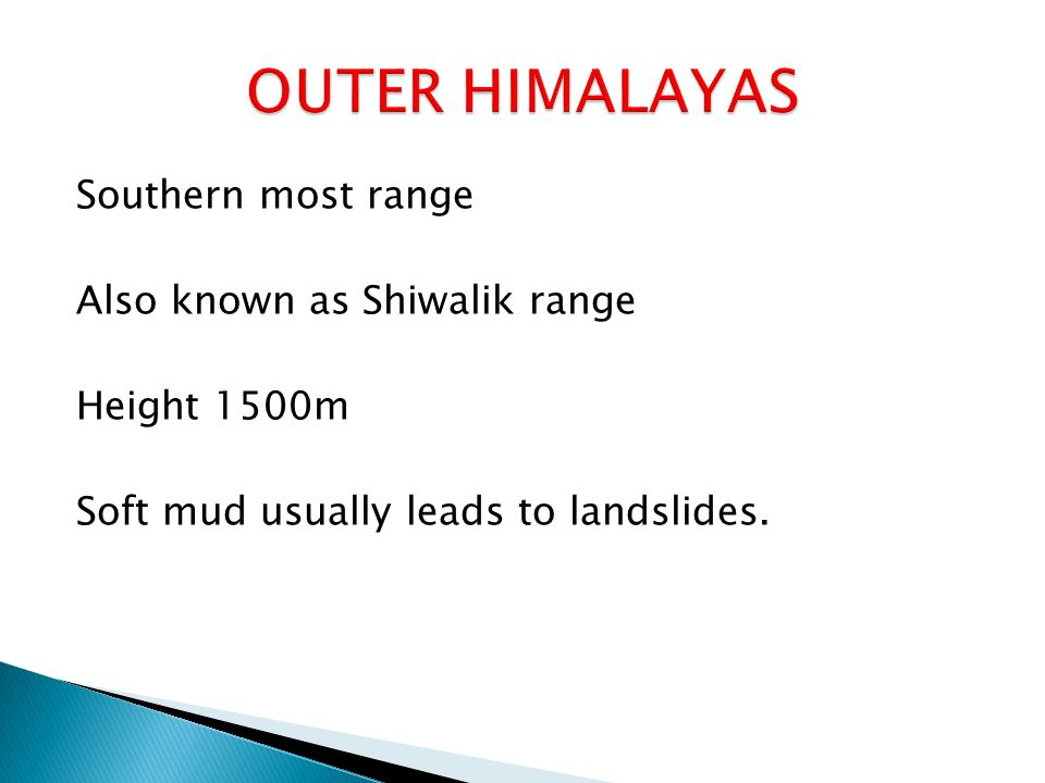 outer himalayas