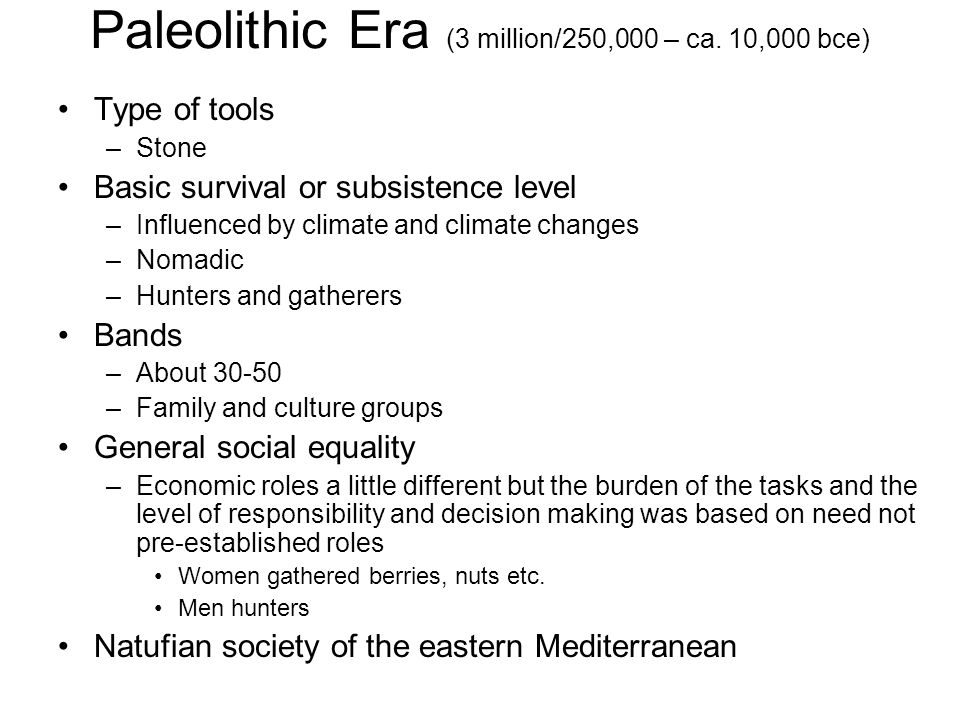 paleolithic to neolithic transition