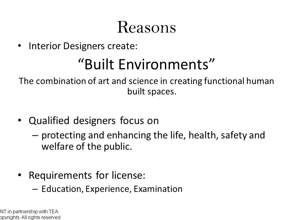 Why Should Interior Designers Be Required To Get A License. 3 UNT ...