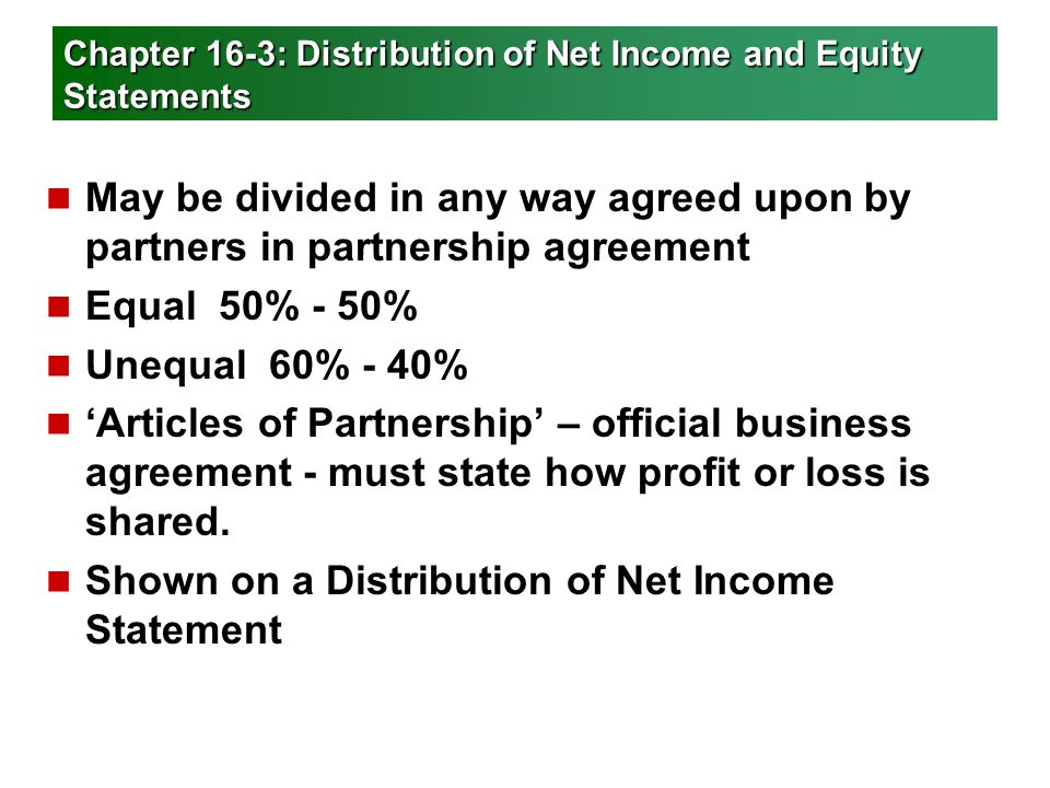 Financial Statements For A Partnership Ppt Video Online Download