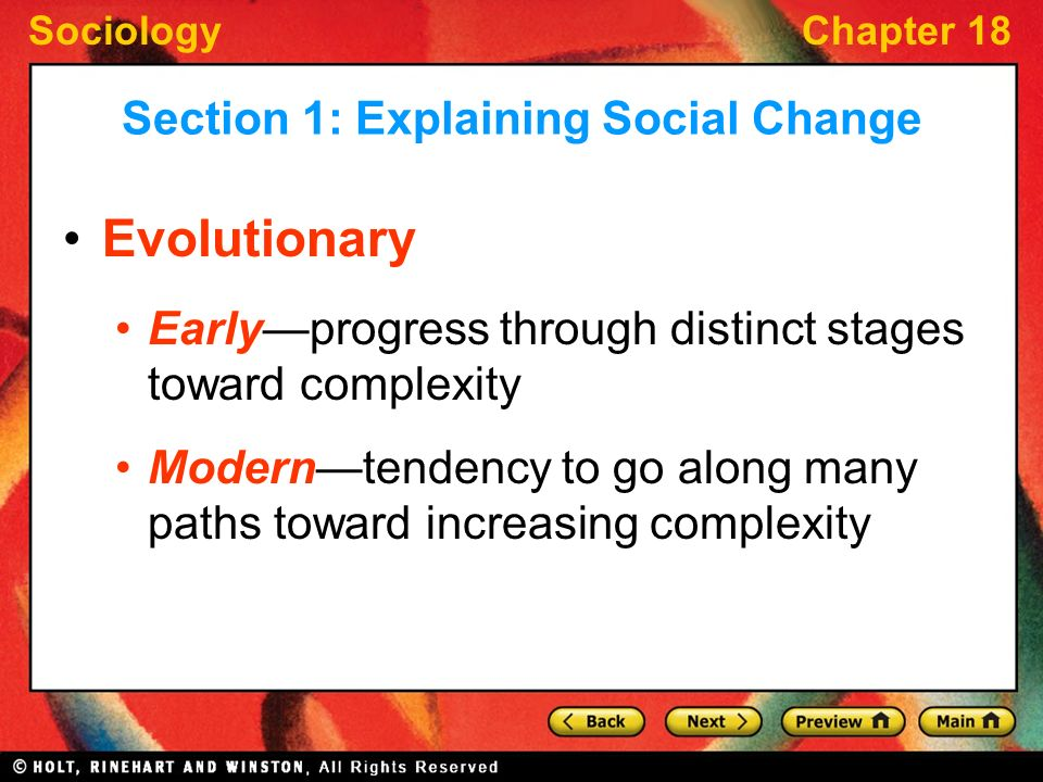 evolutionary change sociology