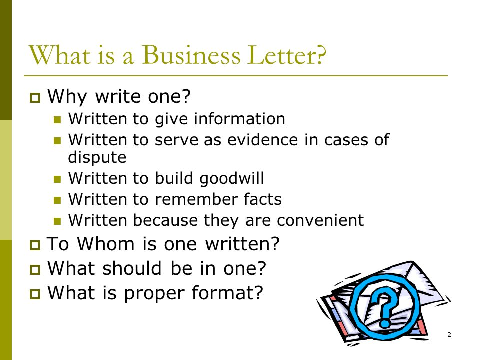 Creating a Business Letter ppt