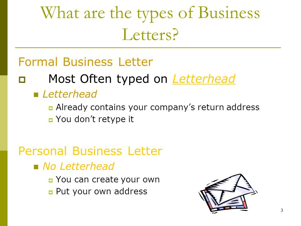 Where To Put Return Address On Letter.Creating A Business Letter Ppt Download
