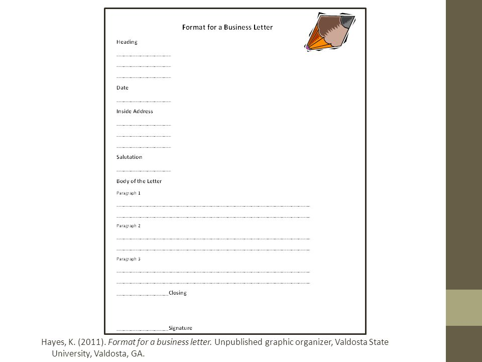 format for a business letter