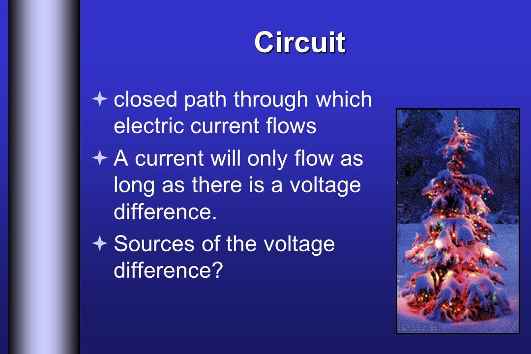 Circuit closed path through which electric current flows