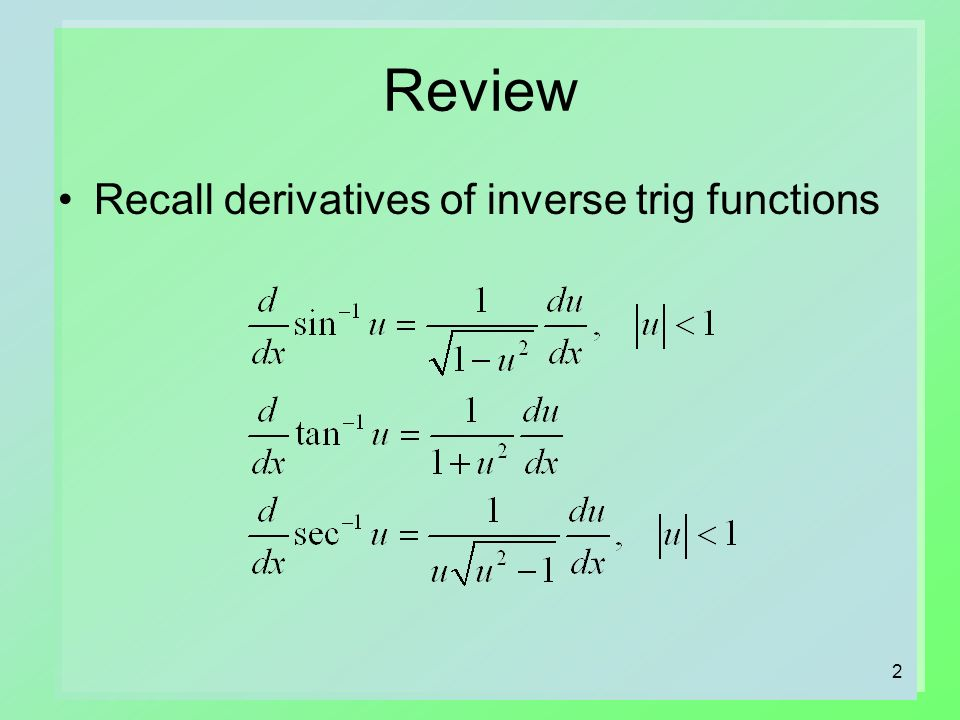 Integrals Related To Inverse Trig Inverse Hyperbolic Functions