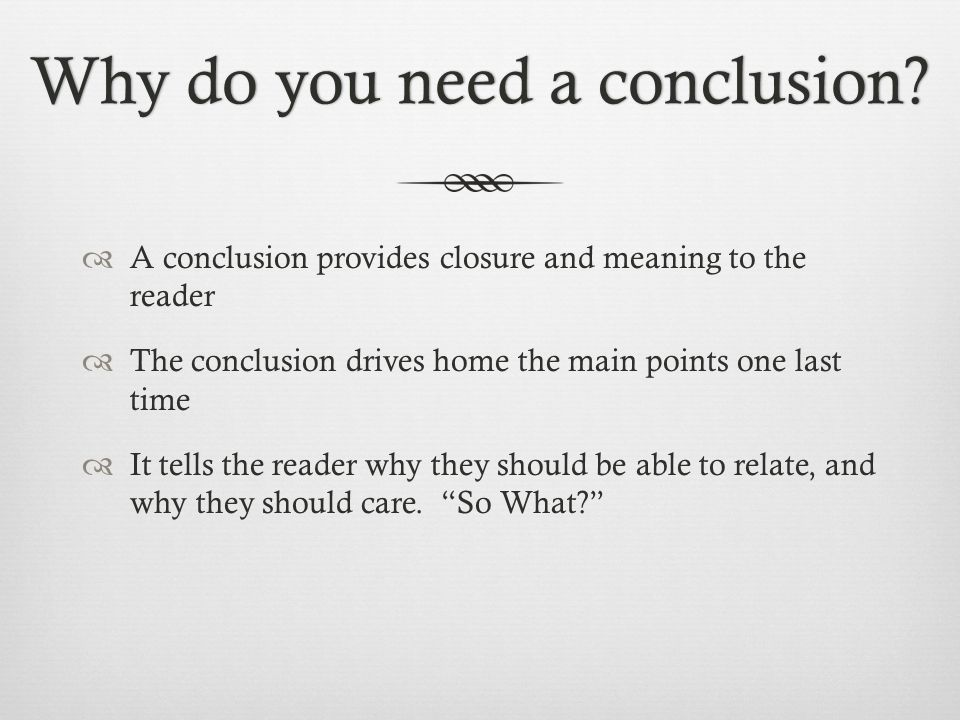 what is the meaning of conclusion