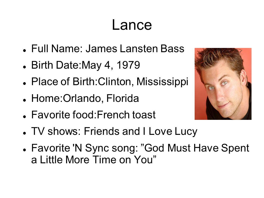 Που είναι ο Λανς από το NSYNC