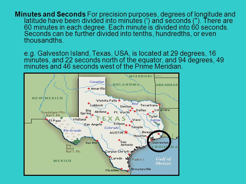 how is a degree of longitude or latitude further subdivided