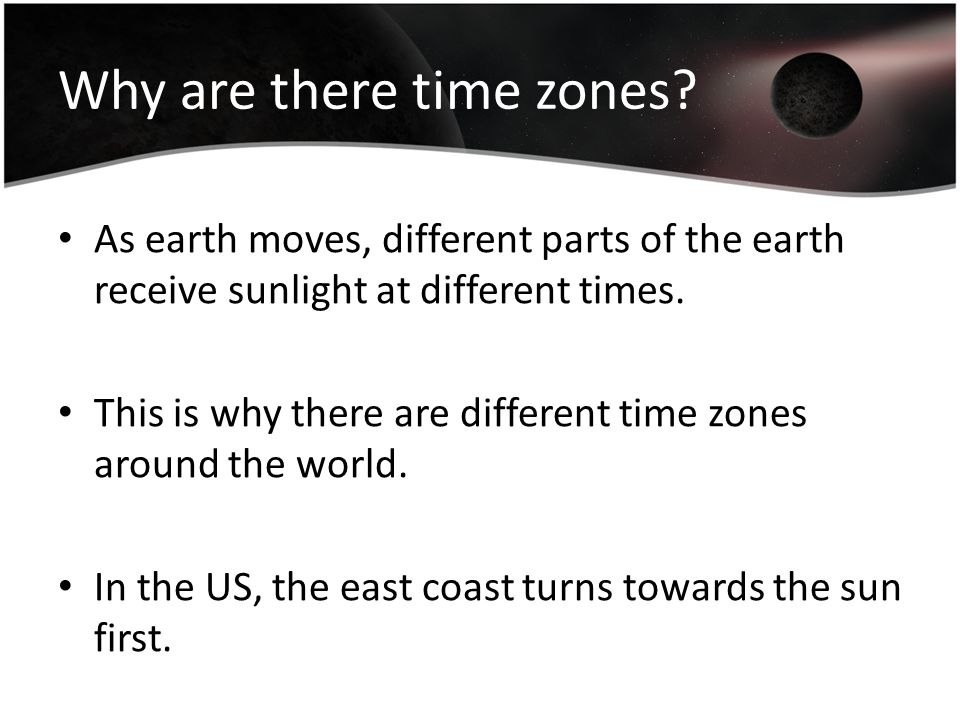Why are there time zones