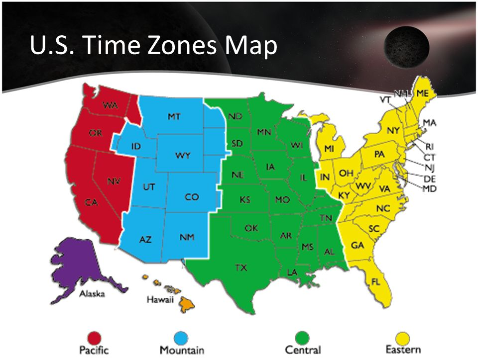 U.S. Time Zones Map