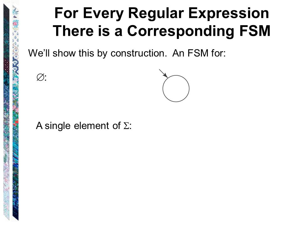 For Every Regular Expression There is a Corresponding FSM
