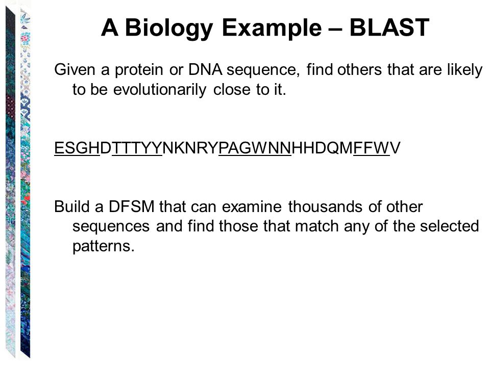A Biology Example – BLAST