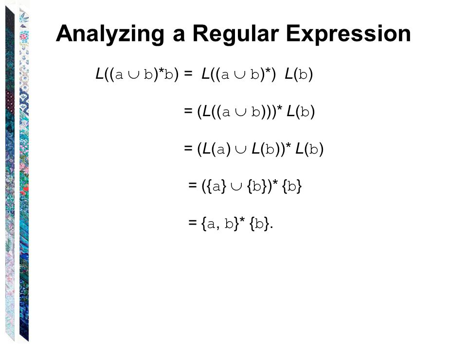 Analyzing a Regular Expression