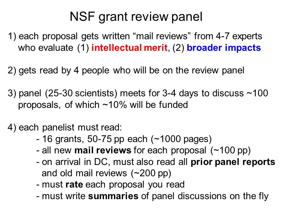 Parts of an NSF full grant proposal - ppt video online download