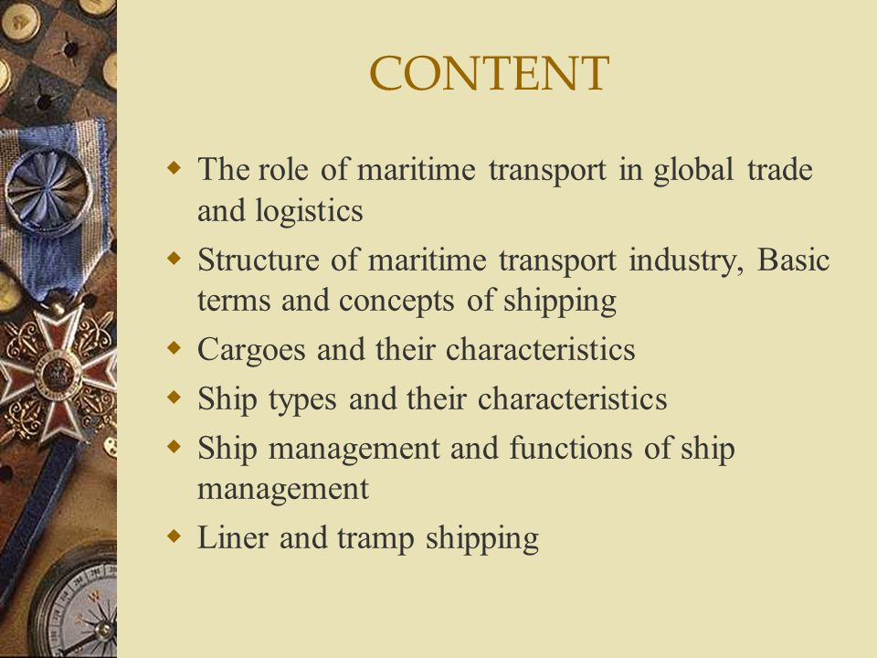 MARITIME TRANSPORTATION MANAGEMENT - ppt video online download