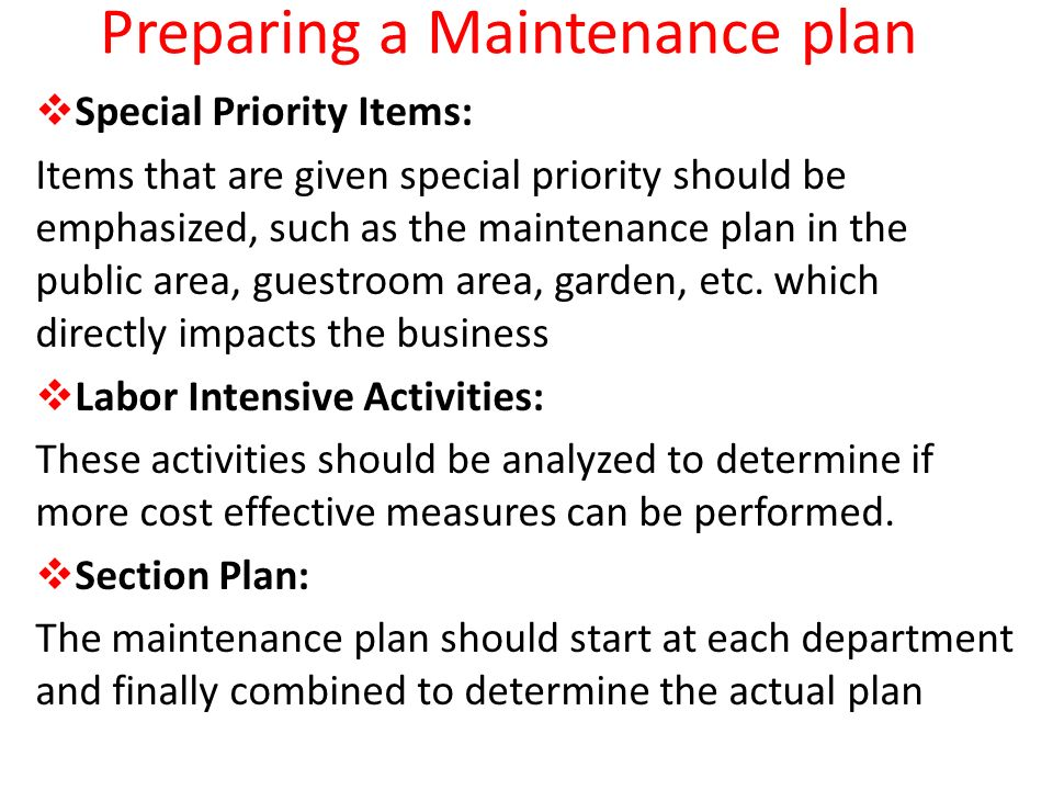 Course of Study 5  Maintenance Management Assessing
