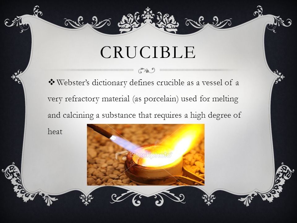 crucible meaning