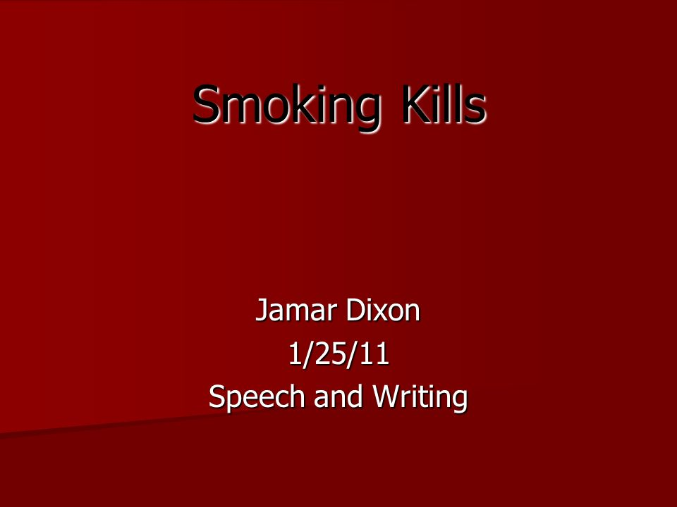 smoking kills writing
