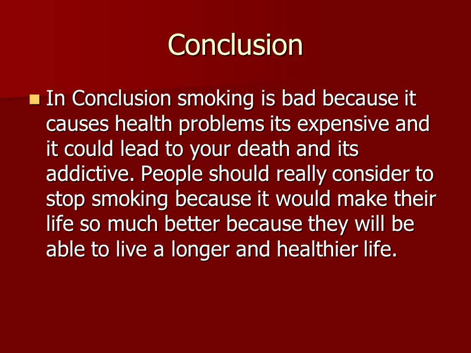 conclusion on smoking cigarette
