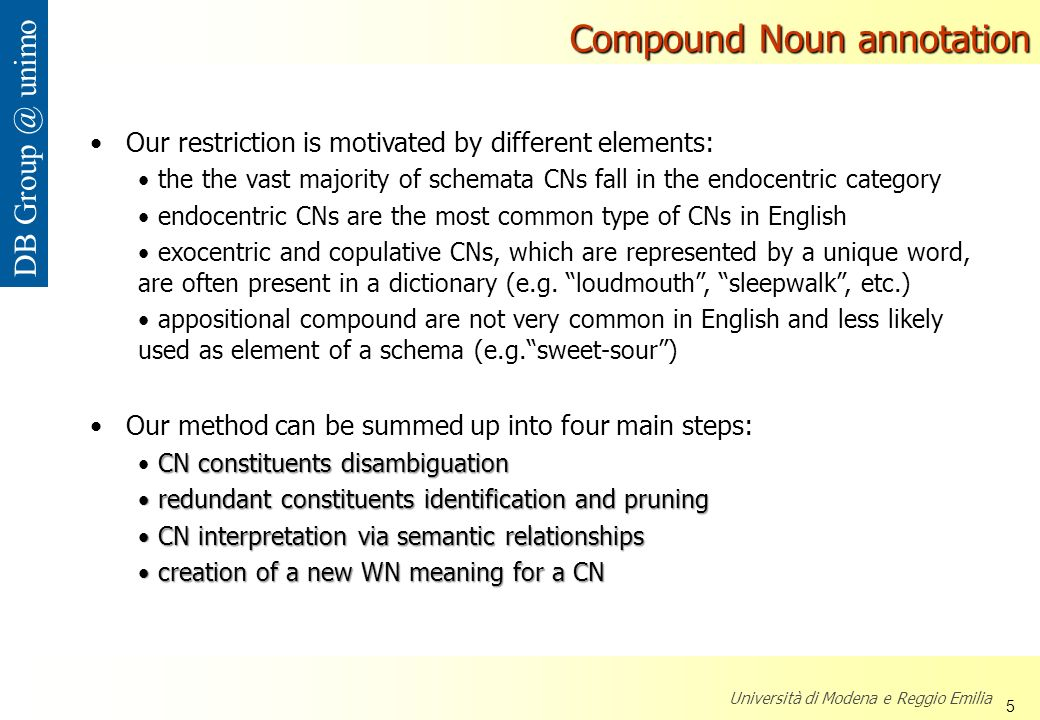 Compound Noun annotation
