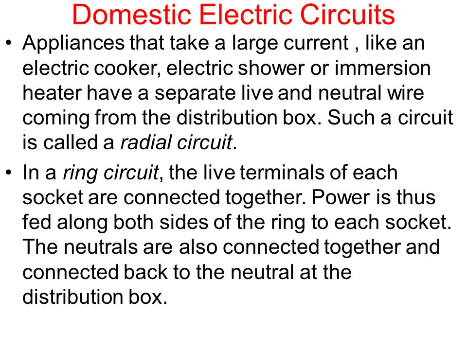 Effects of an Electric Current and Domestic Circuits - ppt download