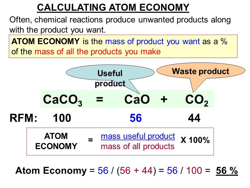 Chemistry-atom economy and percentage yield.
