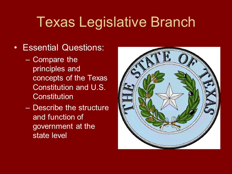 texas legislative branch ppt download