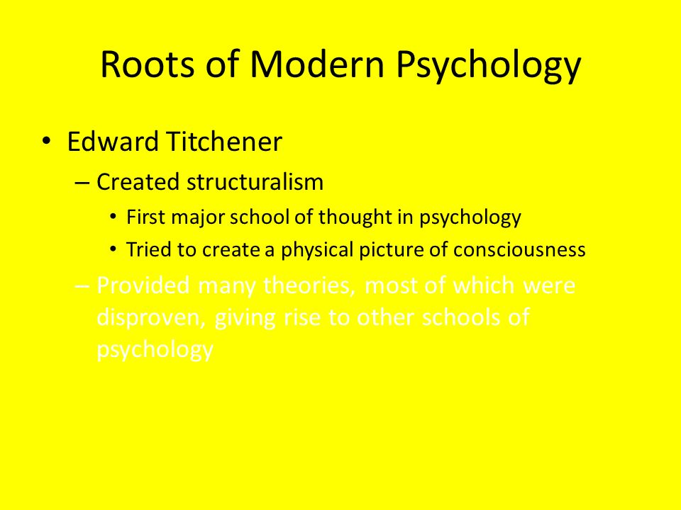 five school of thought of psychology