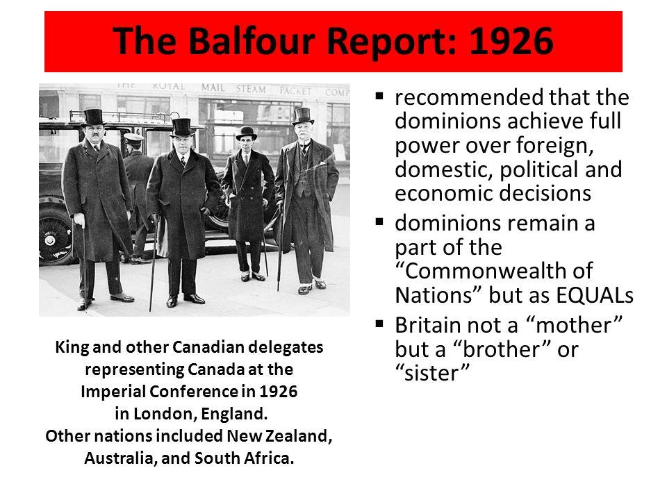 balfour report 1926