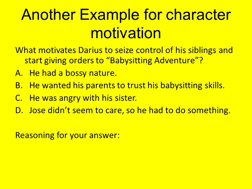 what is character motivation in literature