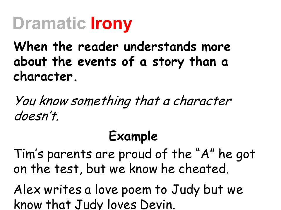 dramatic irony in poetry