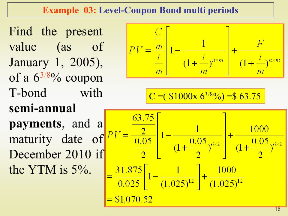 how to find present value of coupon payments