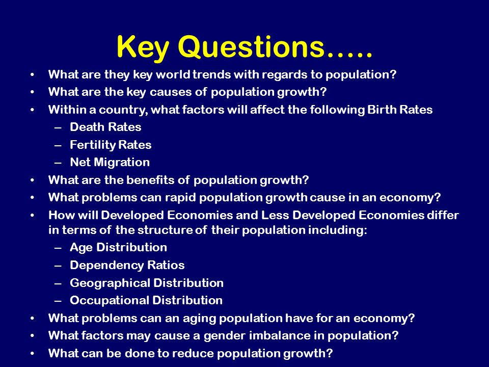 factors leading to population growth