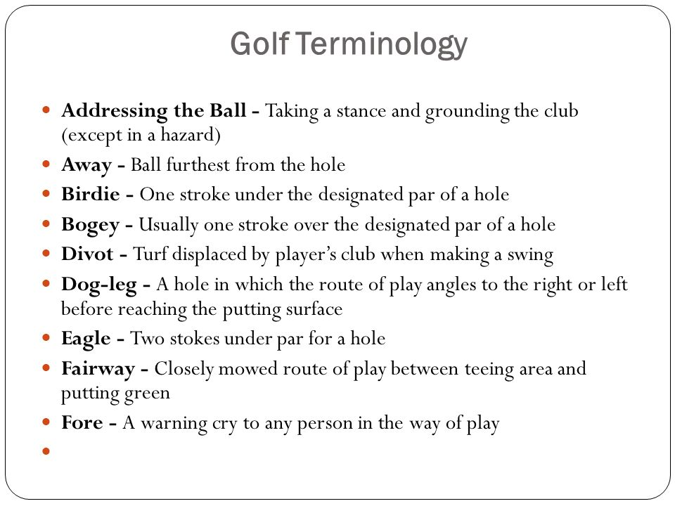 Golf Mr  Schmidt  - ppt video online download